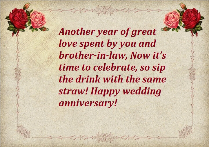 Anniversary Wishes For Brother In Law