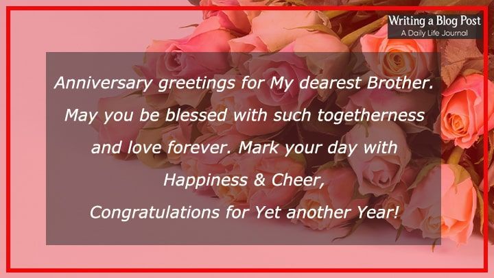 marriage anniversary wishes for brother